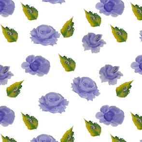 Cute blue roses