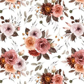 Vintage Roses Edition 1 || Floral Burgundy Apricot Pink White