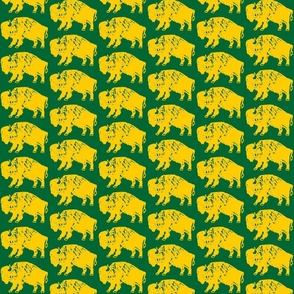Bison Print - OFFICIAL Green & Gold (3 Inches)