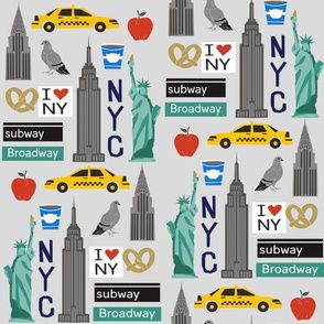 nyc tourist travel usa new york city fabric grey