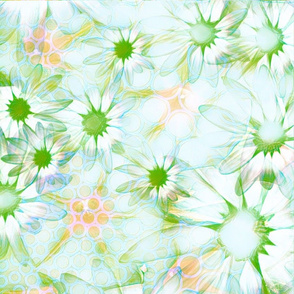 Light Green Spring Daisies
