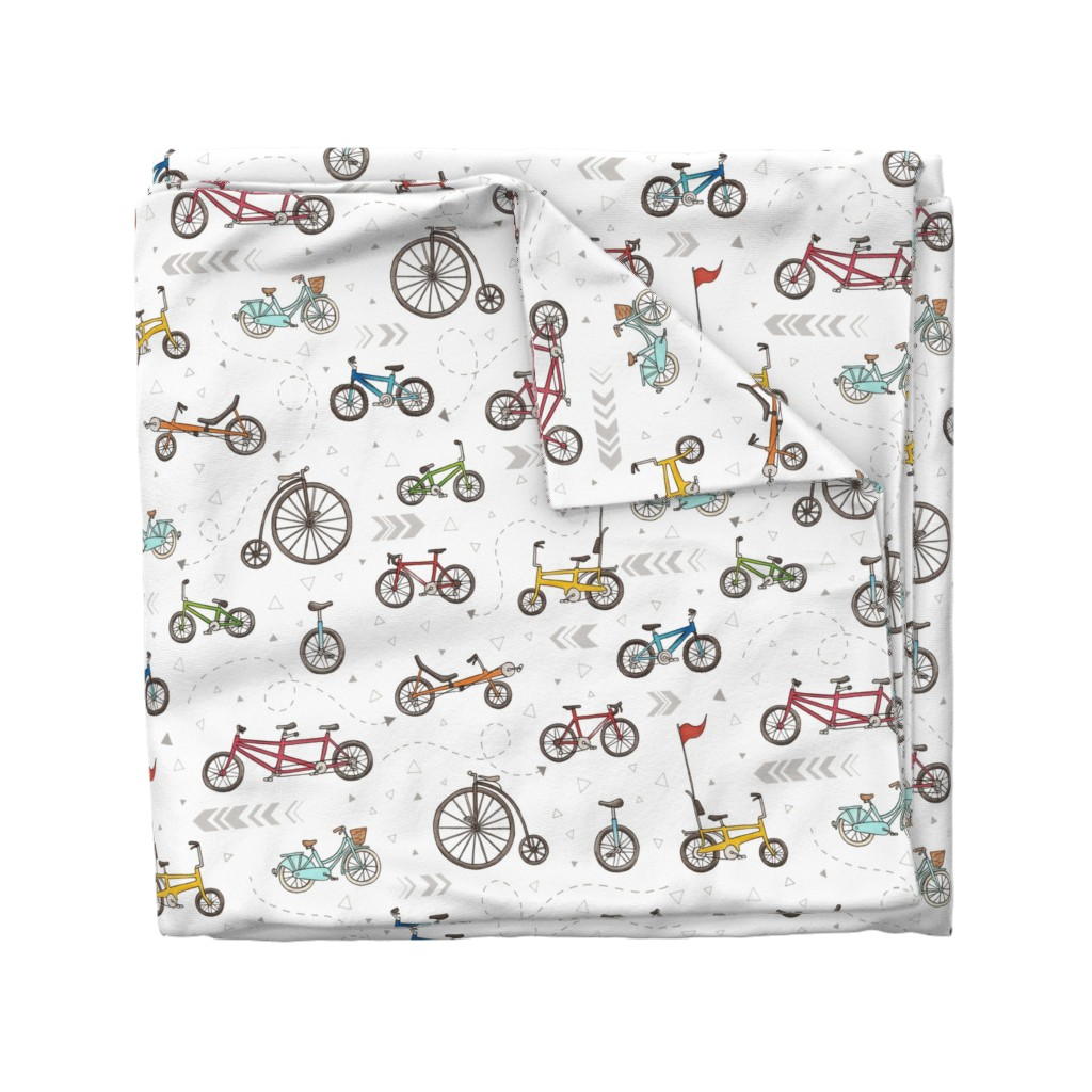 Wyandotte Duvet Cover featuring Cycling by hazelfishercreations