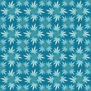 ★ CHECKERED WEED ★ Teal / Collection : Cannabis Factory 2 – Marijuana, Ganja, Pot, Hemp and other weeds prints