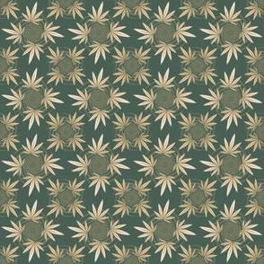 ★ CHECKERED WEED ★ Camo Green / Collection : Cannabis Factory 2 – Marijuana, Ganja, Pot, Hemp and other weeds prints