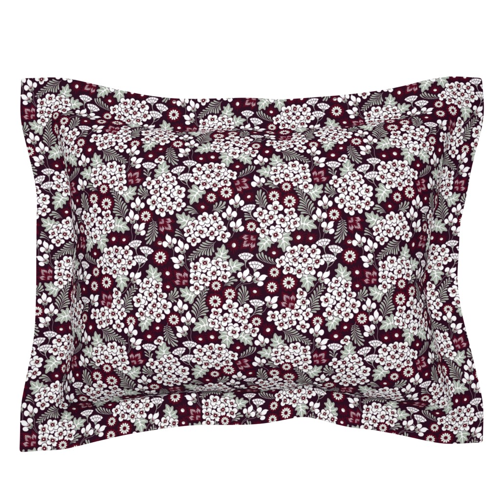 Sebright Pillow Sham featuring Winter Holiday Floral by dearchickie