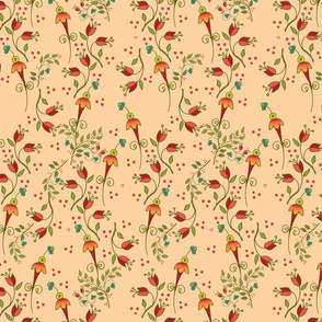 Russian Floral-ditsyapricot