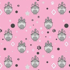 Kawaii Kitty In Pink