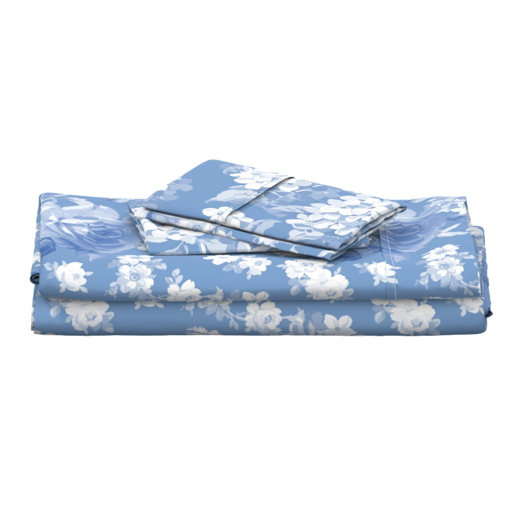 Langshan Full Bed Set featuring Lapis Garden by lilyoake