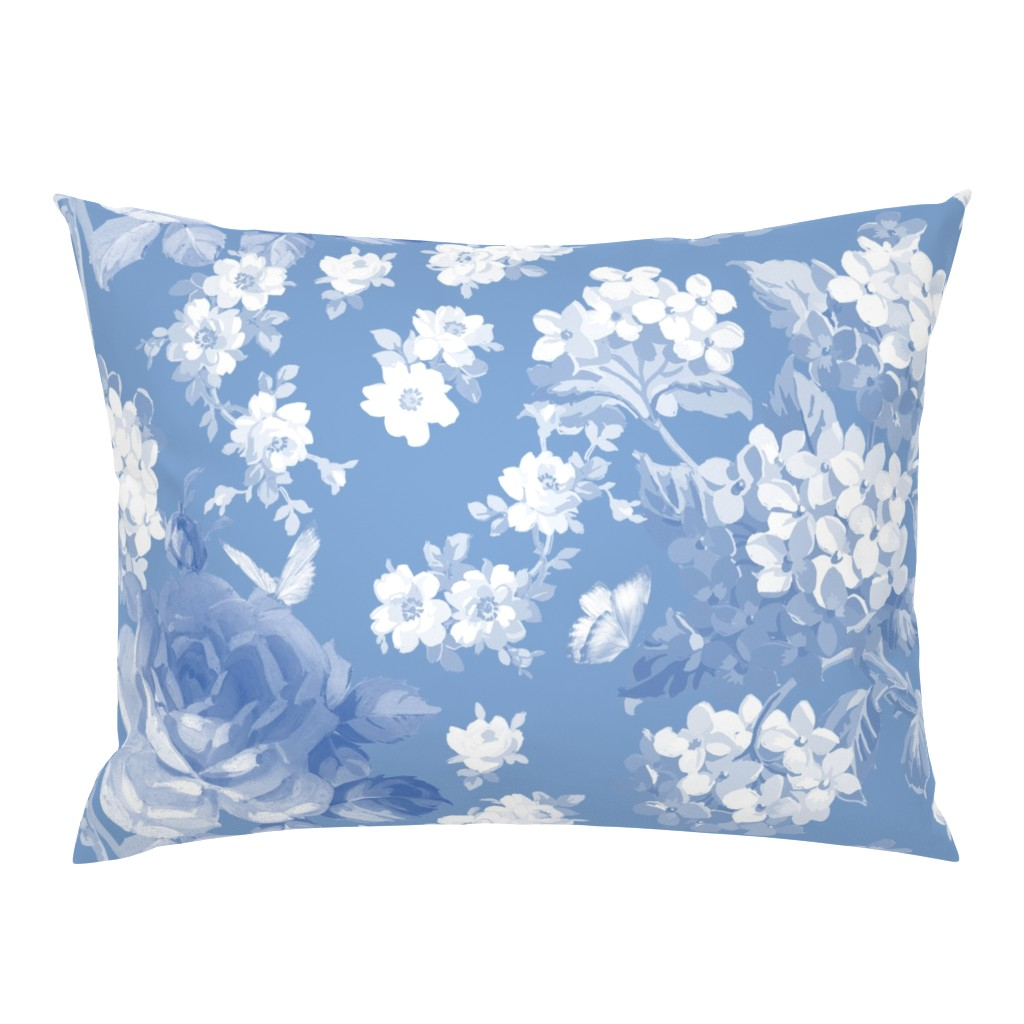 Campine Pillow Sham featuring Lapis Garden by lilyoake