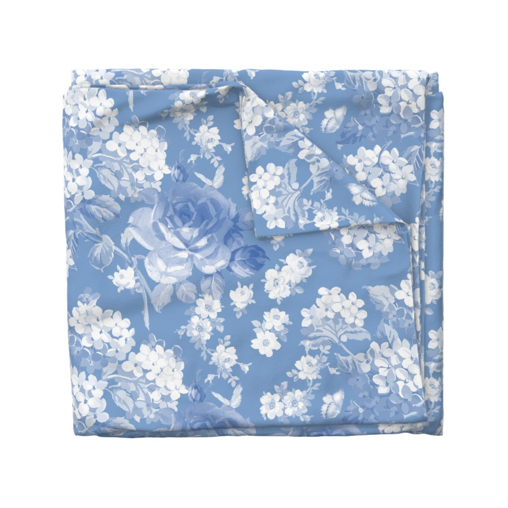 Wyandotte Duvet Cover featuring Lapis Garden by lilyoake