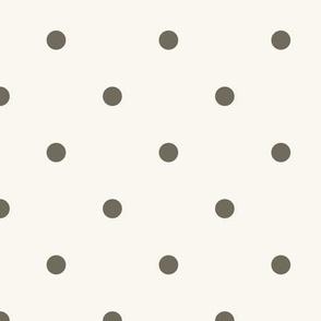 Small Dot - Dark Brown, H White