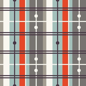 Plaid - Grey, Red, H White