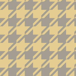 Houndstooth - Straw, Gray