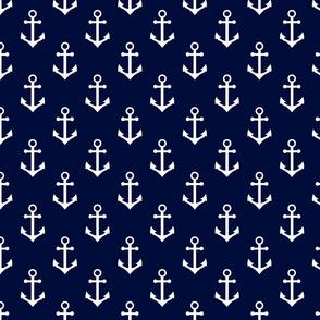 nautical anchors navy and white fabric classic ocean nautical fabrics
