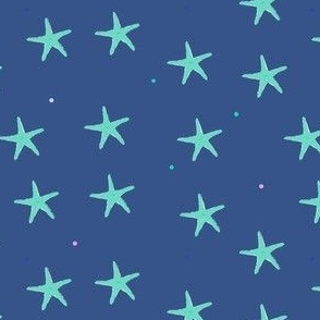 starfish on navy blue