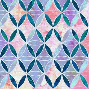 Rhomboids Flower-of-Life Paint Pattern