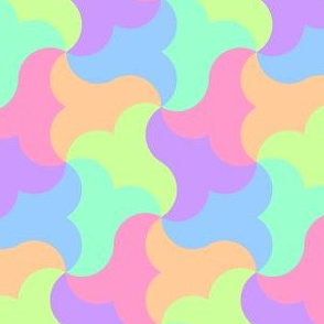 00753331 : 6 circle-arc triangles : pastel