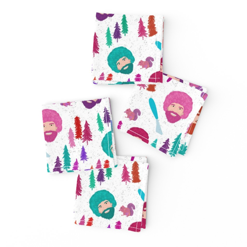Frizzle Cocktail Napkins featuring Happy Trees by inkysunshine