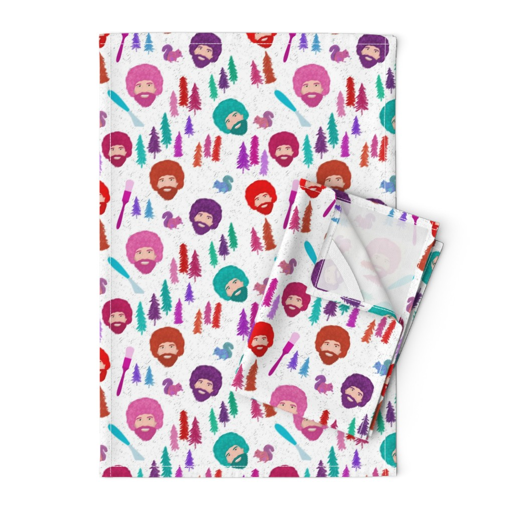 Orpington Tea Towels featuring Happy Trees by inkysunshine
