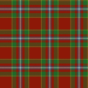 Stewart of Fingask 1745 clan tartan, 6""