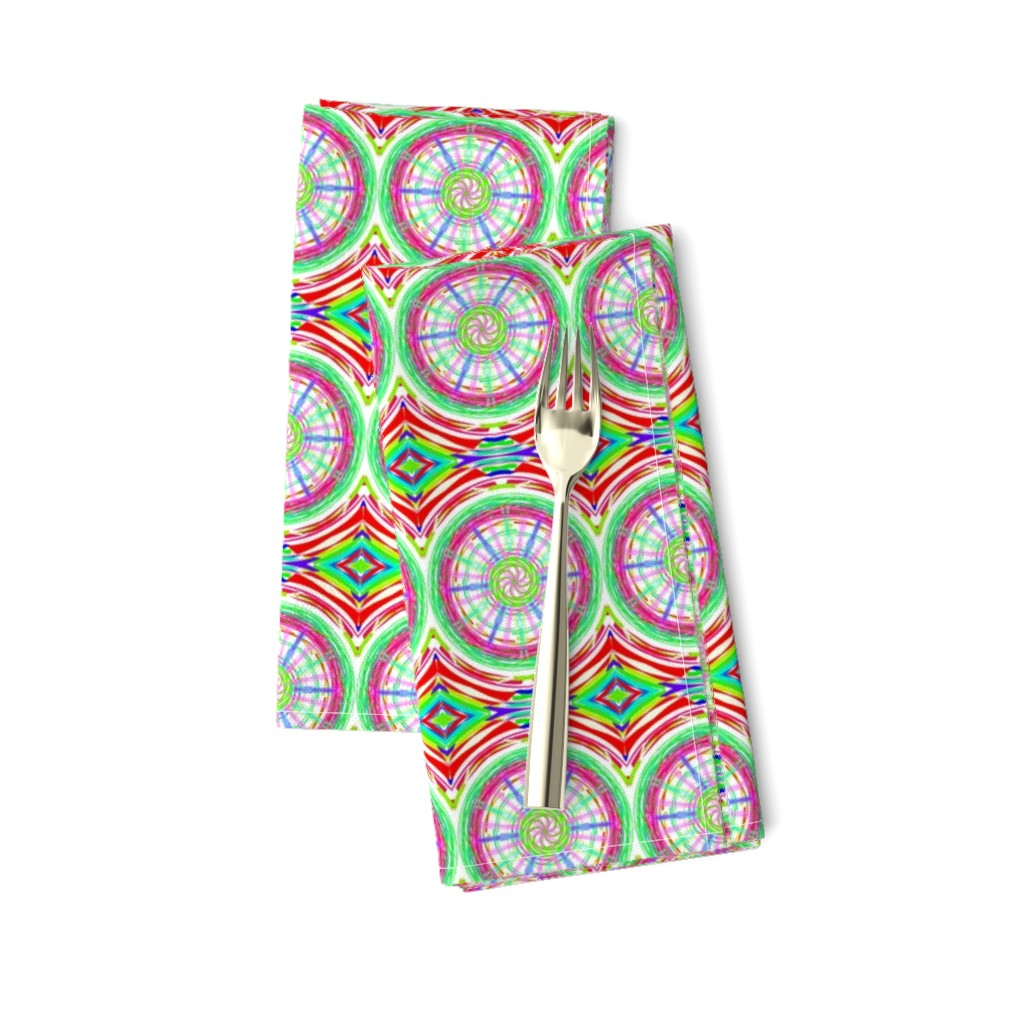 Amarela Dinner Napkins featuring Bicycle Wheels Spinning Along by rhondadesigns