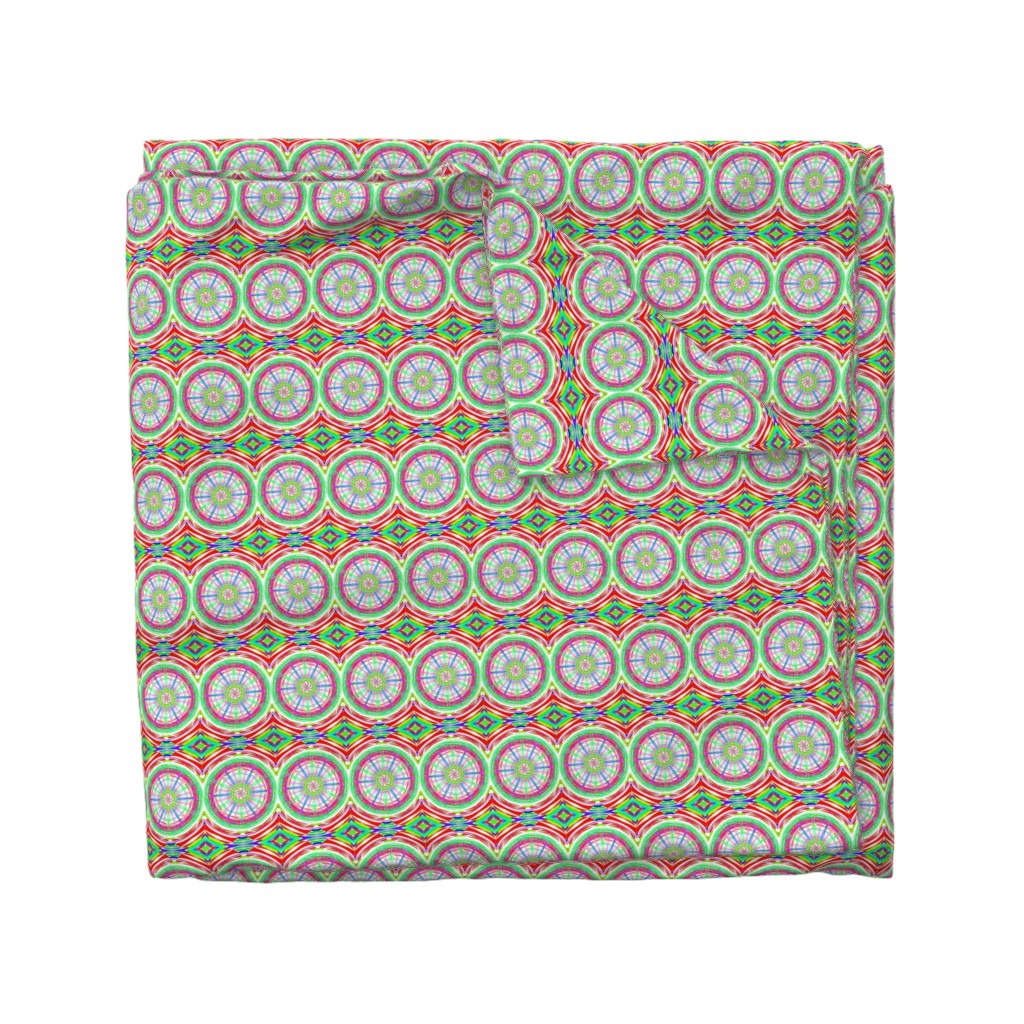 Wyandotte Duvet Cover featuring Bicycle Wheels Spinning Along by rhondadesigns