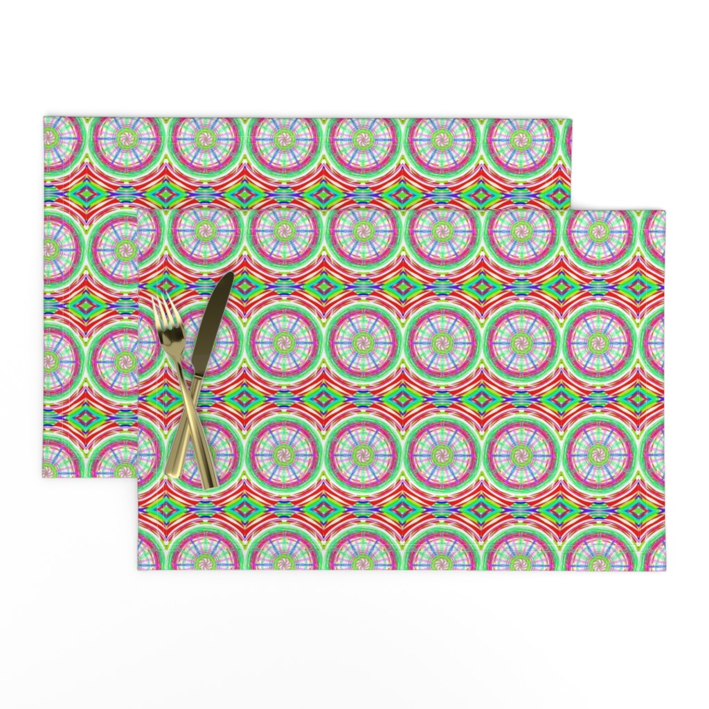 Lamona Cloth Placemats featuring Bicycle Wheels Spinning Along by rhondadesigns