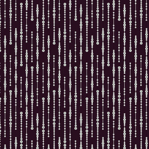 lines of icicles on deep aubergine - Winter Soiree Collection