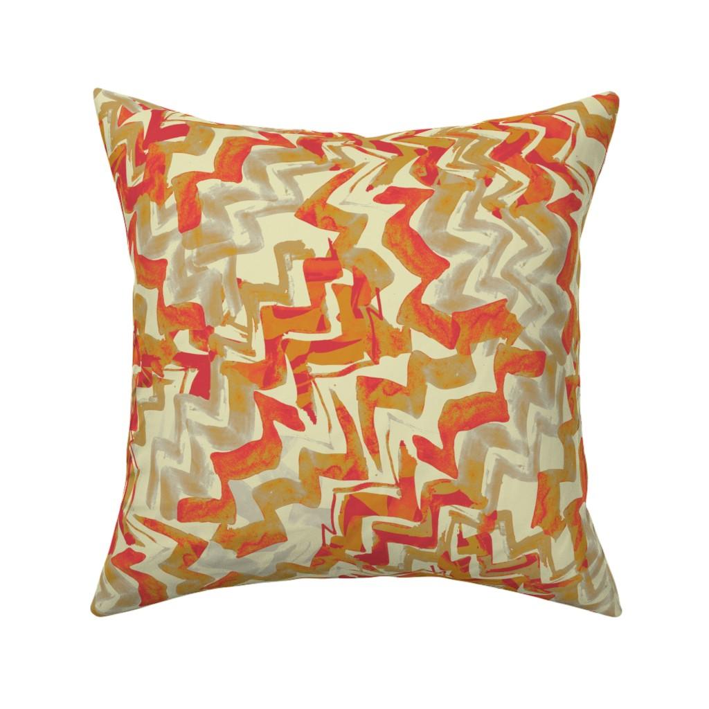 Catalan Throw Pillow featuring zag2-bw-fiesta-light by wren_leyland