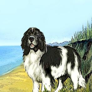 landseer on the beach panel Two