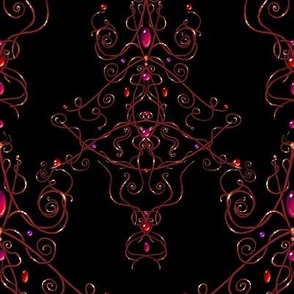 Delicate Damask Red