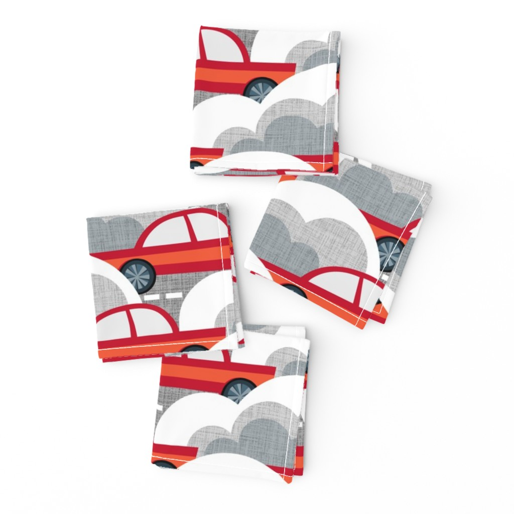 Frizzle Cocktail Napkins featuring Papercut Cars by spellstone