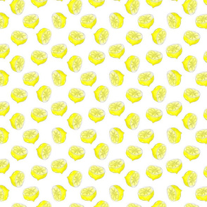 Summer lemon print