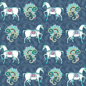Punjab Hills Horses, by Susanne Mason