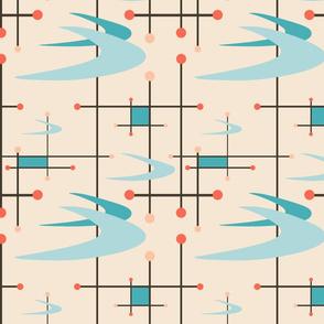 Mid century modern boomerangs gf