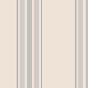 farmhouse stripes in gray on cream