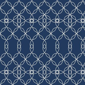 Filigree Lace: Navy & Cream Tracery