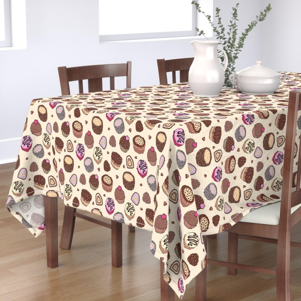 Bantam Rectangular Tablecloth featuring Cupcakes by katyau