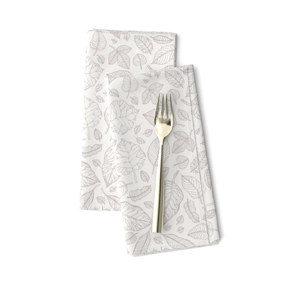 Amarela Dinner Napkins featuring Hand Drawn leaves  by katyau