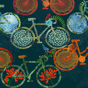 Bicycle Blooms & Birds