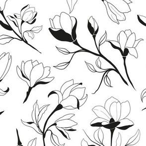 Magnolia Outline Artwork