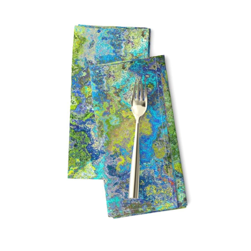 Amarela Dinner Napkins featuring Rough Granite, Yellow by palifino