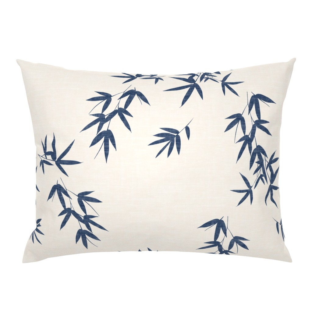 Campine Pillow Sham featuring Denim Bamboo Leaves by kimsa