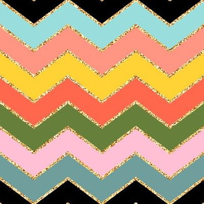 Tropical Chevron Glitter (Color 2)