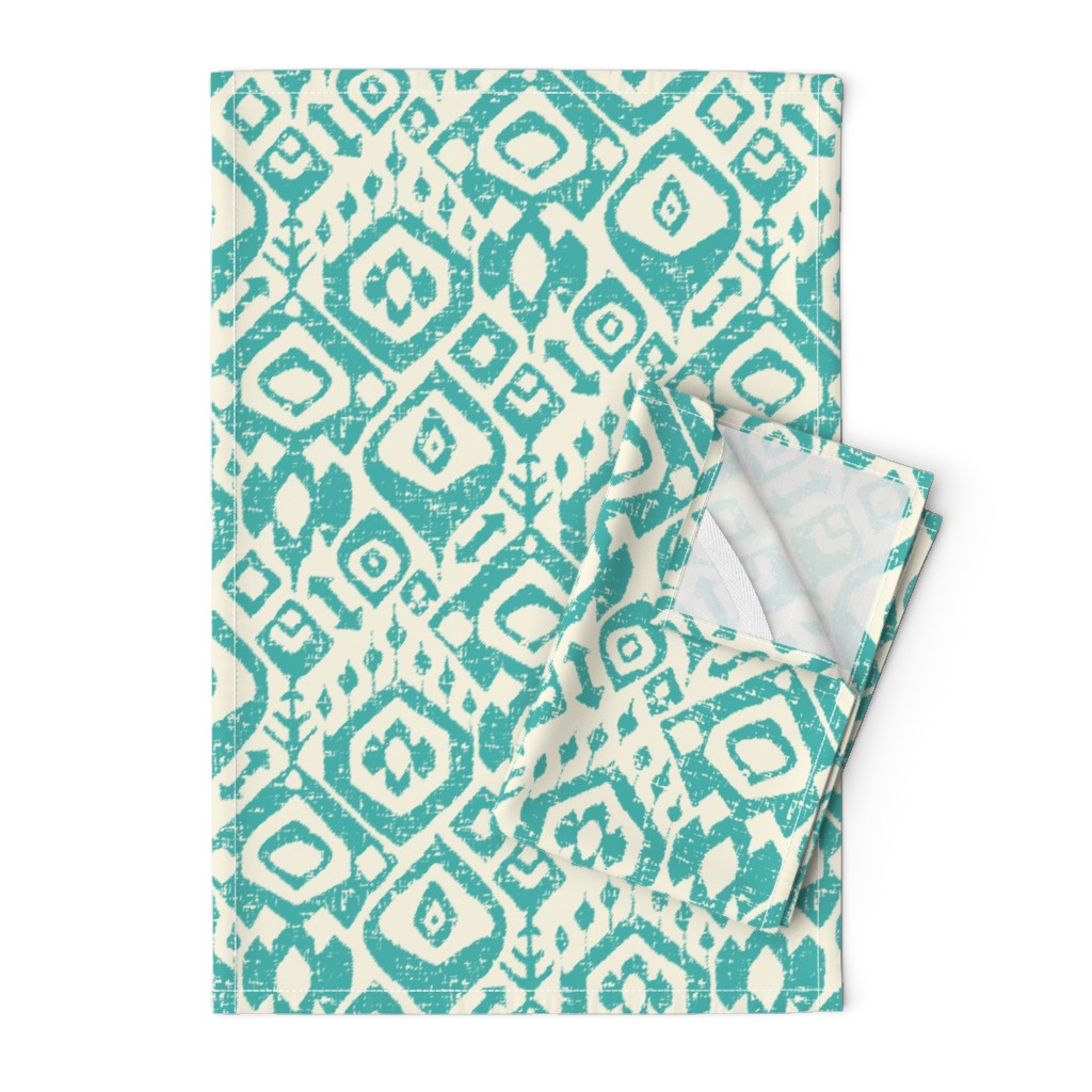 Orpington Tea Towels featuring lezat turquoise by scrummy