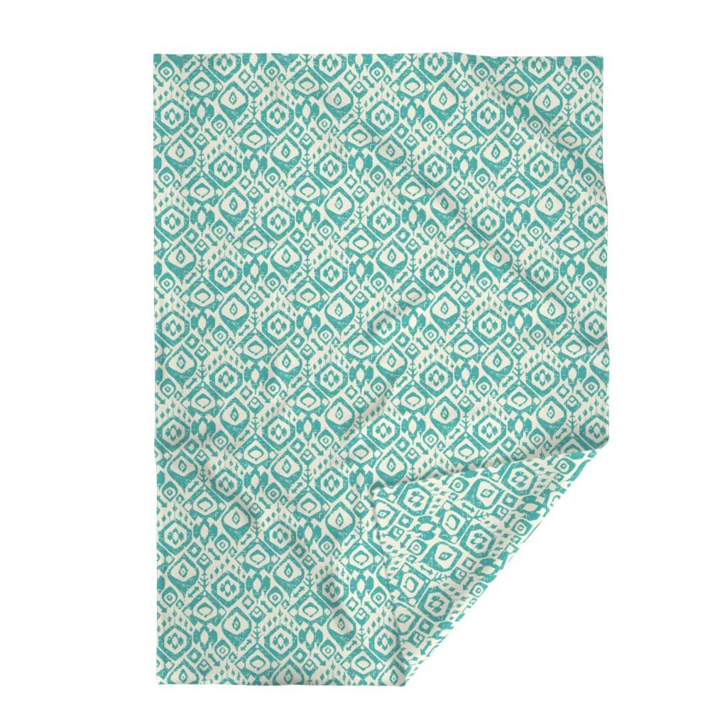 Lakenvelder Throw Blanket featuring lezat turquoise by scrummy