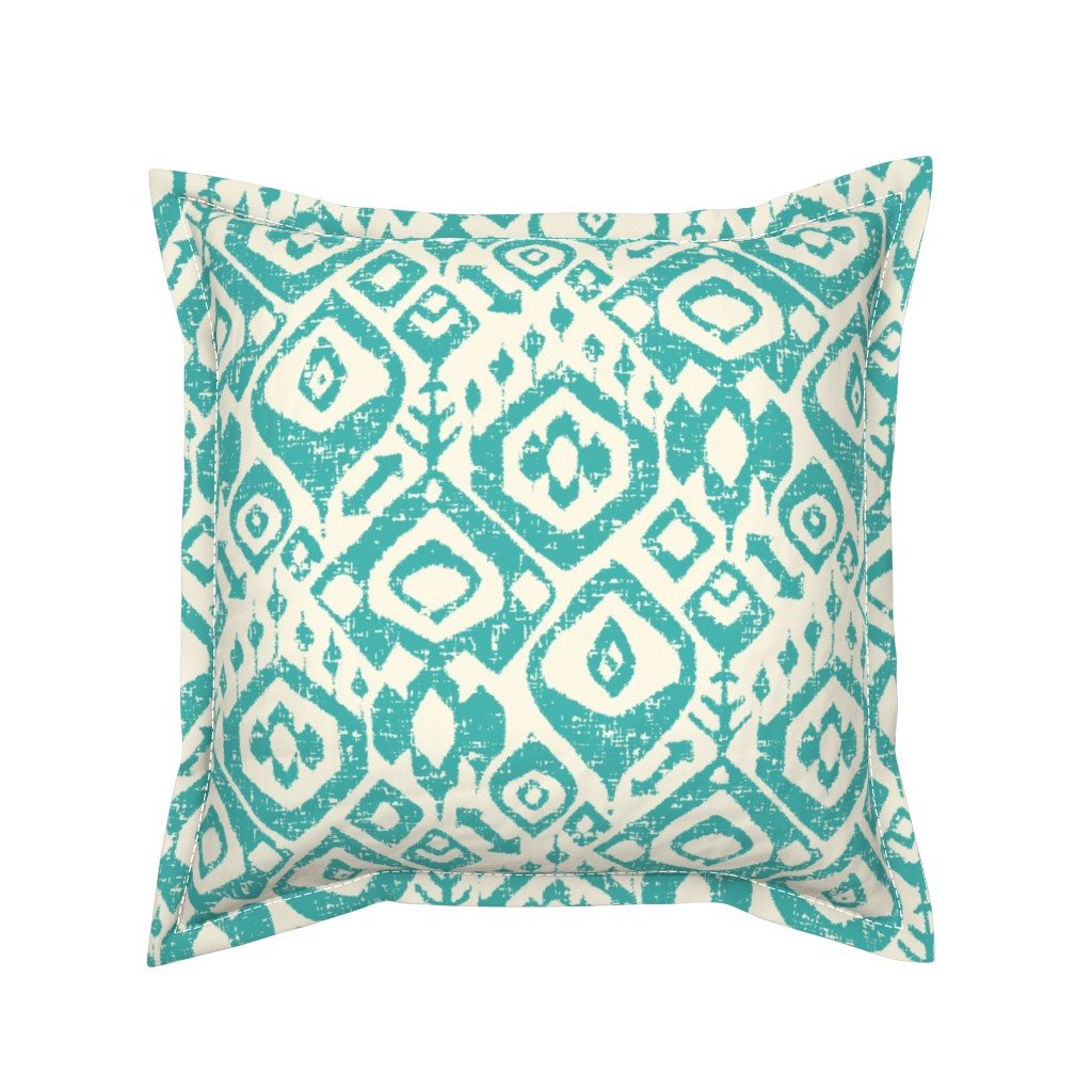 Serama Throw Pillow featuring lezat turquoise by scrummy