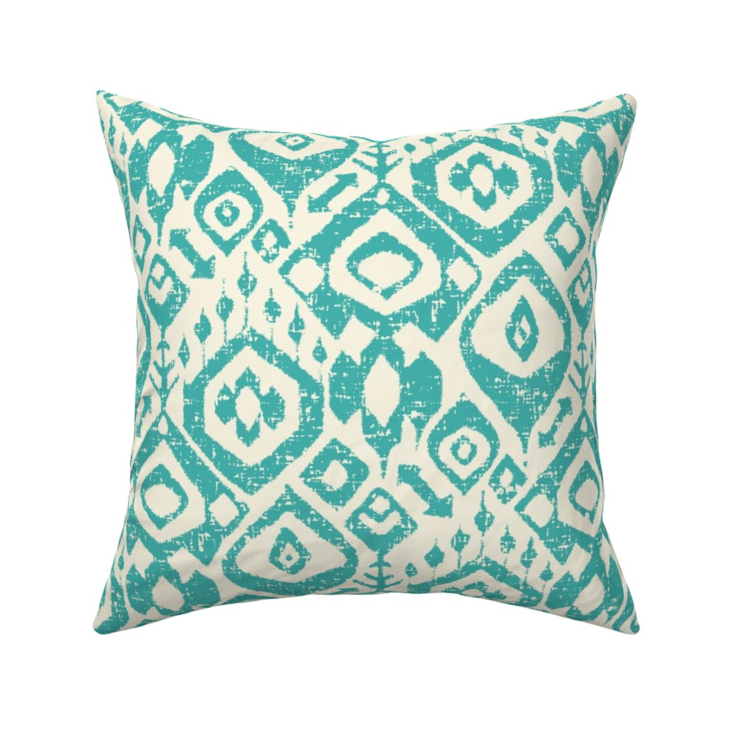 Catalan Throw Pillow featuring lezat turquoise by scrummy