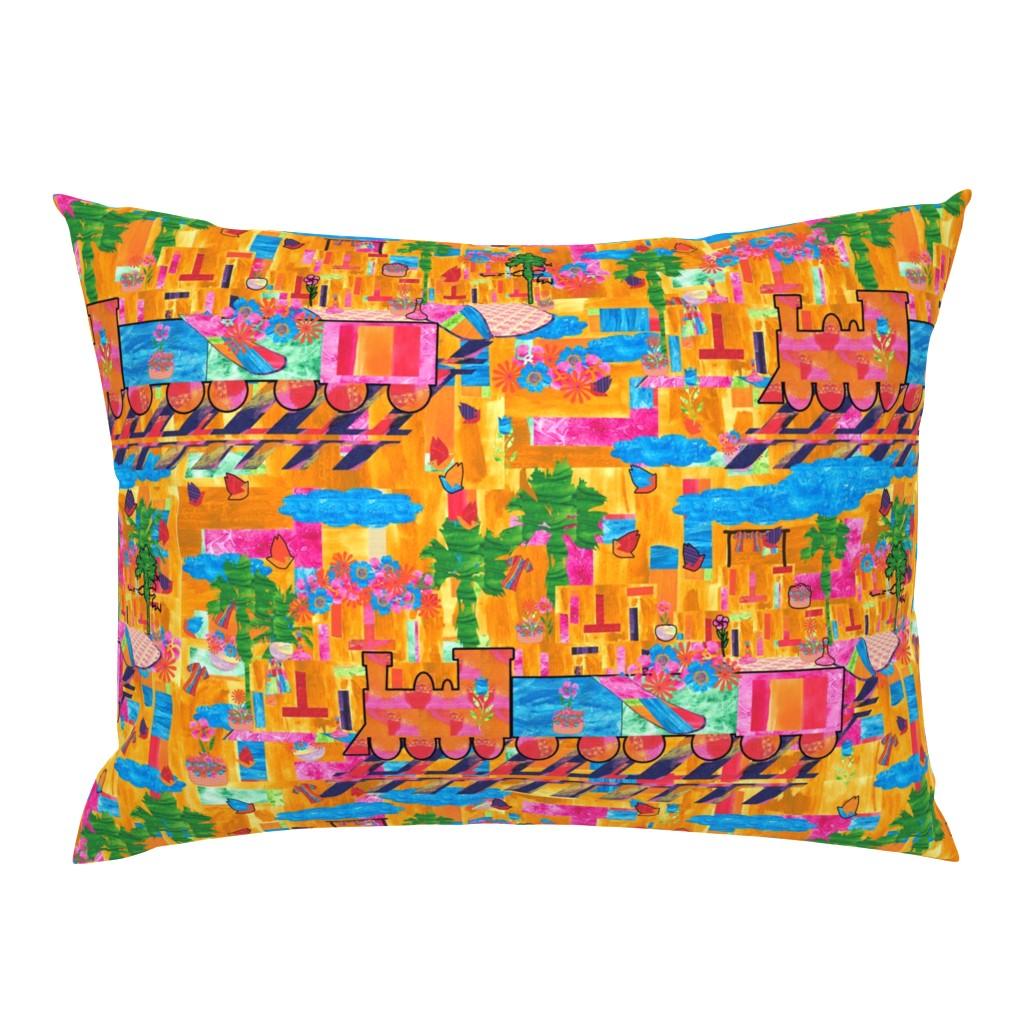 Campine Pillow Sham featuring Marrakesh Express by anniedeb