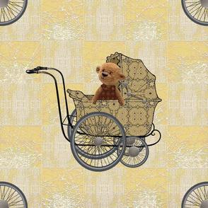 Four wheels teddy yellow